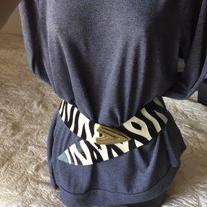 Leather Zebra Print Belt